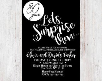 Anniversary party invitation surprise gold and black surprise anniversary invitationrustic anniversary invitationanniversary party surprise anniversary party invitation 13 stopboris Images