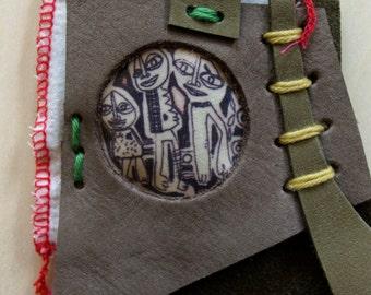 Necklace transfer etching on textile - unique Piece