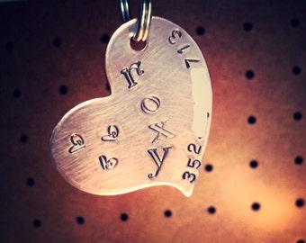 LOVE is Heart Dog ID tag