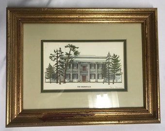 Phil Ponder 1985 The Hermitage Print Signed