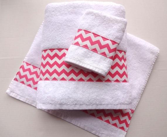 chevron towels hand towels chevron pink bathroom towel - Pink Bathroom Towels