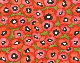 Michael Miller Valencia Petite Poppy Olive Fabric - 1 yard