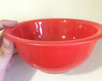 Cherry Red Pyrex Mixing Bowl