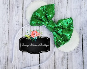 White and Green Mouse Ears