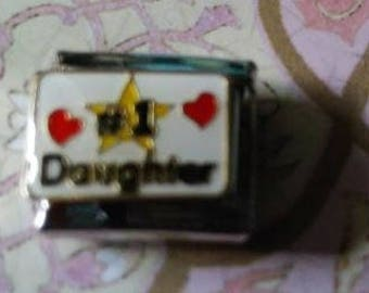 Number 1 Daughter - 9 mm Italian Charm