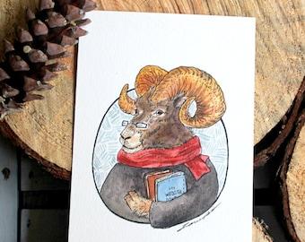 The Mountain Goat (print) 5x7