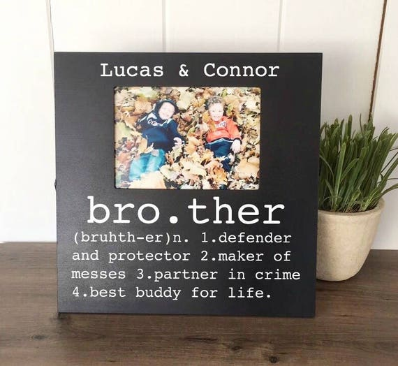 Brother picture frame brother buddy for life big brother little brother picture frame brother buddy for life big brother little brother gifts for brother brother gift brother birthday gift from fourleafframes on negle Image collections