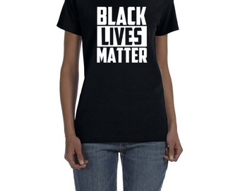 Womens Fitted Black Lives Matter T-Shirt All Sizes Available!