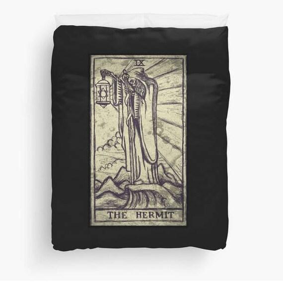 The Hermit Tarot Card Duvet Cover