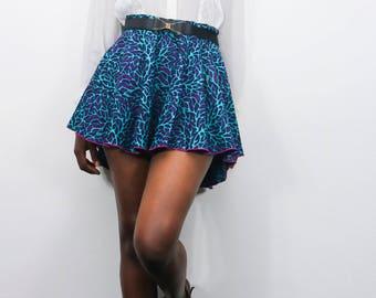 Wax asymmetrical skirt