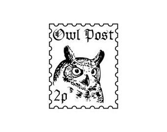 Harry Potter Eule Post faux Briefmarke Stempel