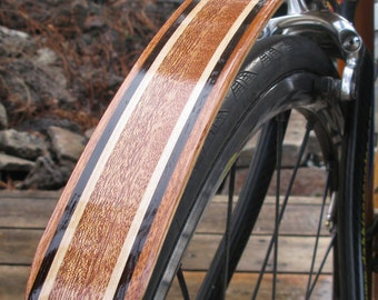 Woody's Chop Chort Rear Classic woods bike fender.  Bicycle fender.  Mud guards