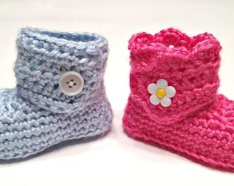 Crochet Wrap Around Button Boots