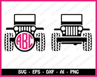 SALE! Sale! Jeep SVG Collection - Jeep DXF - Jeep Clipart - Svg Files for Silhouette Cameo or Cricut
