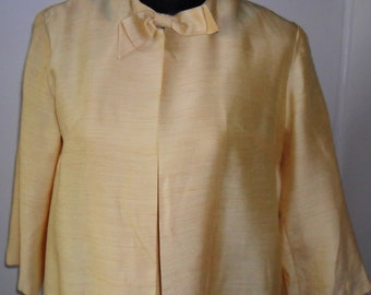 1960s vintage Jackie O style two piece gold wiggle dress and coat