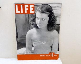 Life magazine, depression era, news stories, news worthy, old magazine, vintage magazine, periodical magazine, black and white, news article