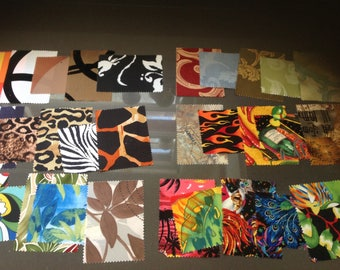 Fabric scraps, assorted, large