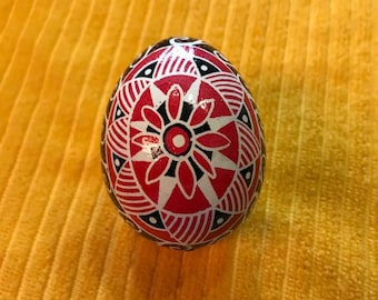 Red Flower Pysanky