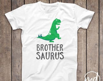 Brothersaurus Shirt, Dino Brother, Dinosaur Brother Shirt, Boy's Dinosaur Shirt, Matching Dinosaur Shirts