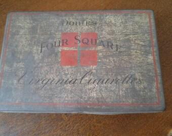 Vintage Dobie's Four Square Virginia Cigarettes Tin Box*