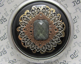 Compact Mirrors Midnight Stardust Gift For Her Black Compact Mirror