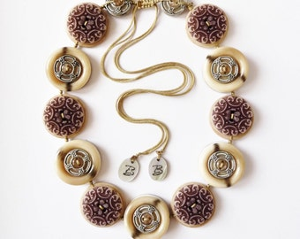 Was 19.00,Now 15.00 each Vintage Button Handmade Necklace