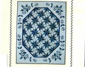 original New Zealand designed quilt kit CHINA BLUE