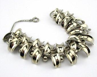 Chrome Bracelet German Modernist Ball Link