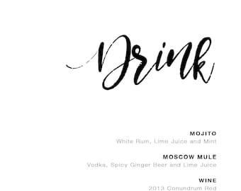 Wedding Drink Poster