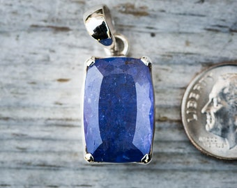 Tanzanite Pendant - Oval Cut Tanzanite in Sterling Silver - Tanzanite Pendant Tanzanite - Sterling Silver - Tanzanite - December Birthstone