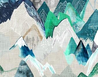 Blue Watercolor Mountain Lovey. Mountiain Lovey. Cloud Blanket. Baby Blanket. Lovey. Mini Baby Blanket. Security Blanket. Lovie. Minky Lovey