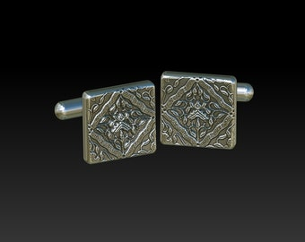cuff links cufflinks mens cuff links gift for men mens jewelry silver cuff links  square cuff links CR1