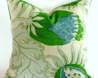 One Side or Both Sides  Pillow Cover in Carnival Green