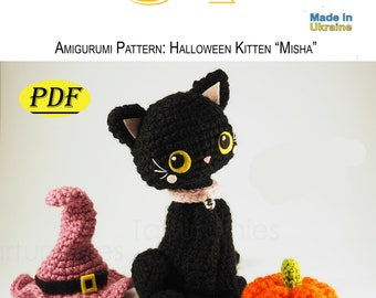Kitten Misha,PDF,pattern,Amigurumi,gifts,handmade,file,thread,knitted toy,toy crochet,how to do it