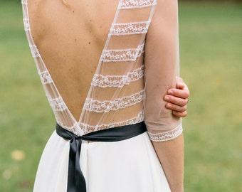Wedding dress Boho wedding dress Romantic Wedding Dress Long Sleeve Wedding Dress vintage wedding dress elegant wedding gown