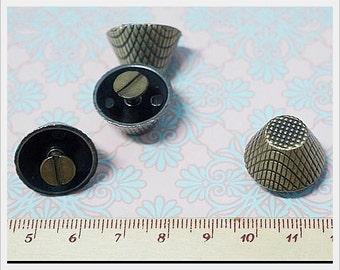 10 sets  Polish Antique Bronze Purse Bag Feet Bag supplies Screw Type 19 mm