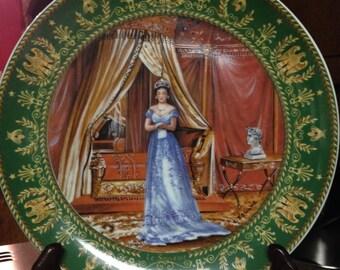 Limoges Souvenir Plate Commemorating Josephine and Napoleon