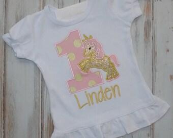 Unicorn birthday shirt, Rainbow Unicorn birthday shirt, Unicorn outfit, Ruffle shirt, Unicorn birthday outfit, Sew Cute Creations