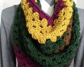 Chunky Cowl , Winter Scarf ,Circle Scarf , Women Scarves ,Crochet Scarves , Crochet Scarf, Crochet Cowl