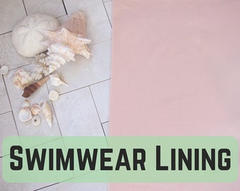 Swim Lining! In Nude, lightweight & stretch! Perfect for your Swimwear! Sold by the 1/2 Meter!