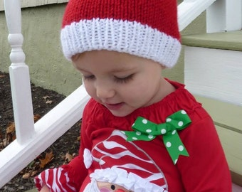 a1a9488d4b1 ... get diy knitting pattern 111 childrens knit santa hat beanie with pom  7e449 2d490