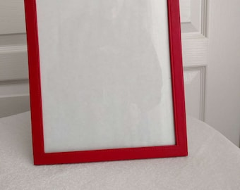 MILANO SERIES RED Leather like Picture Frame, Folding back, Vintage, 8 X 10, Gift, Friends