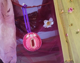 Vagina Valentine's Decor- Sweet Juliet Rose - iFelt Vaginas Goddess Hang it From Your Rearview Mirror