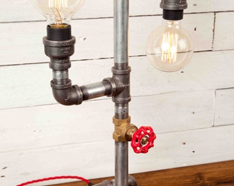 THE DANCER, Industrial style, Edison bulbs, Industrial Lighting, Steampunk, Lamp, Table Lamp, Desk Lamp, Iron pipe light, Urban chic, Rustic