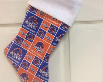 "Boise State University Christmas Stocking with your name, 18"" x 8"""