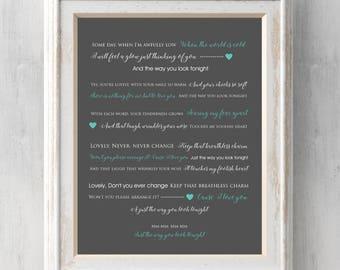 Get low lyrics etsy frank sinatra print the way you look tonight gift song lyrics some stopboris Image collections