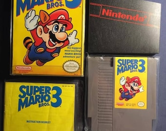 Super Mario Bros 3 Nintendo NES Video Game - Complete with Cartridge and Booklet still sealed! From 1990