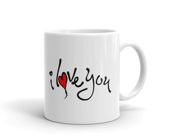 Mug, #i love you, quirky, original, coffee mug, cup, mugsbydeb, gift, mothers day, present, text, family, home decor, funny mugs, funny, tea