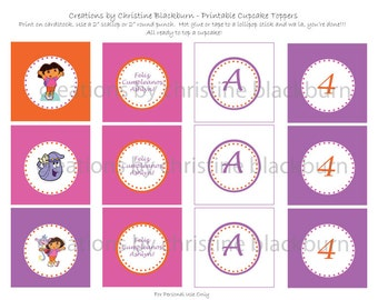 Dora The Explorer Printable Birthday Pack (Digital File) (Non Personalized Items will be INSTANT DOWNLOAD)