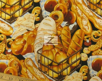 """100% Cotton Fabric By Alexander Henry - Boulangerie - 45"""" Width Sold By The Yard  (FH-641)"""